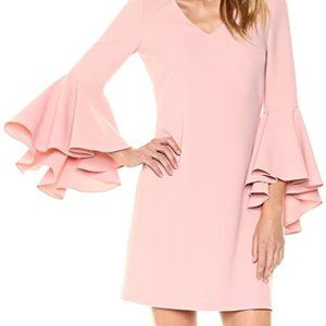 Eliza J Womens Bell Sleeve Shift Dress